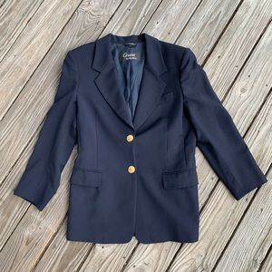 MaxMara Cruise Navy Wool Double Button Blazer